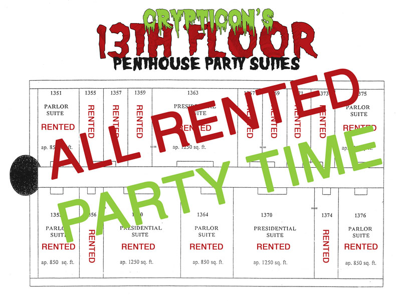 The 13th floor room rental request crypticon seattle for 13th floor vip tickets