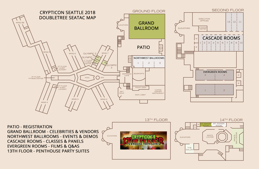 Hotel Map - Crypticon Seattle Crypticon Seattle